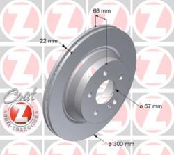 ΔΙΣΚΟΠΛΑΚΕΣ ΟΠΙΣΘΙΕΣ CLS C218 C219 X218 E-CLASS W211 W212 GLK-CLASS X204 300X22 mm