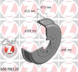 ΤΑΜΠΟΥΡΑ ΟΠΙΣΘΙΑ TRANSPORTER T4 1990 - 2003 + TRANSPORTER Syncro T4 270X65 mm