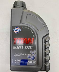 ΛΑΔΙ FUCHS 1L 10W-40 TITAN SYN MC VOLKSWAGEN VW 501.01 505.00 MERCEDES 229.3 229.1